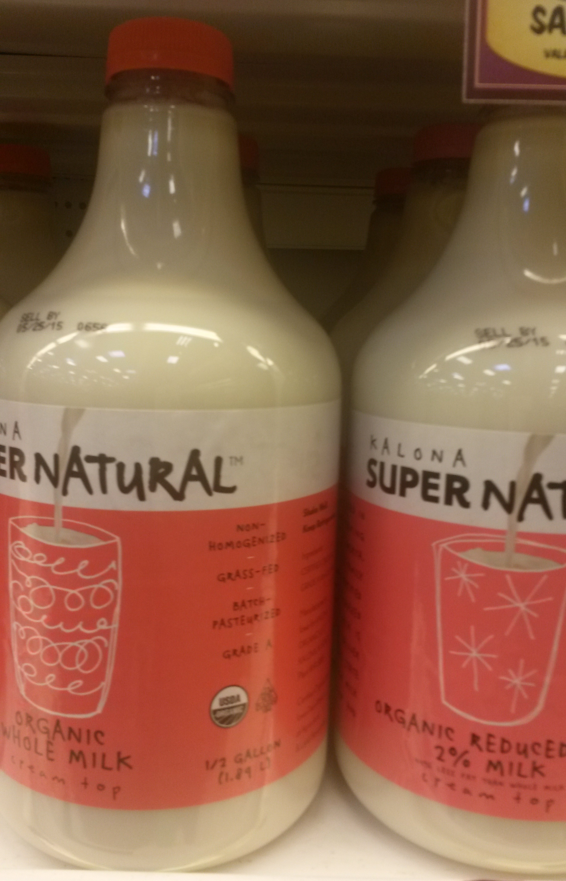 Non-homogenized organic milk