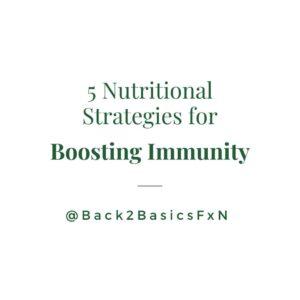 Boosting immunity with Balanced Nutrition
